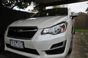Subaru Impreza in white with paint protection in Melbourne Paint Protection Melbourne image 2