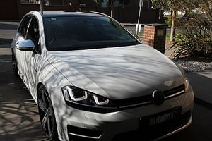 Volkswagen Golf R in White - paint protection melbourne Paint Protection Melbourne image 1