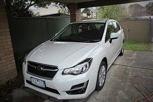 Subaru Impreza in white with paint protection in Melbourne Paint Protection Melbourne image 1